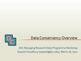 Data Conservancy Overview