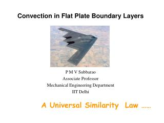 Convection in Flat Plate Boundary Layers