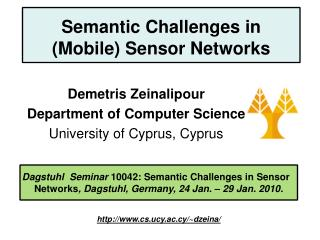 Semantic Challenges in (Mobile) Sensor Networks