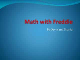Math with Freddie