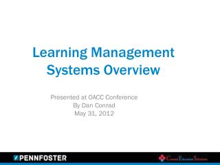 Learning Management Systems Overview