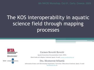 The KOS interoperability in aquatic science field through mapping processes