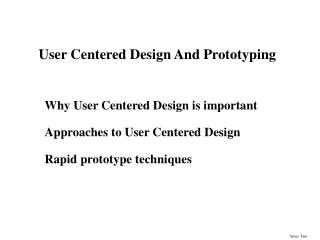 User Centered Design And Prototyping