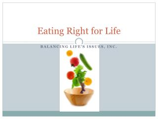 Eating Right for Life