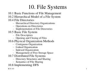 10. File Systems
