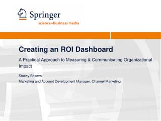 Creating an ROI Dashboard