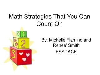 Math Strategies That You Can Count On
