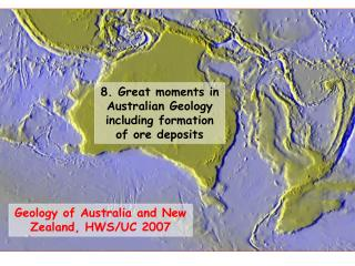 Geology of Australia and New Zealand, HWS/UC 2007