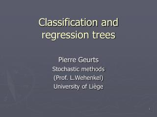 Classification and regression trees