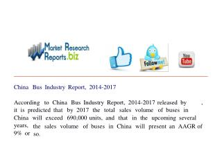 China Bus Industry Report, 2014-2017 Report, 2014-2017