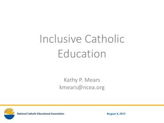 Inclusive Catholic Education