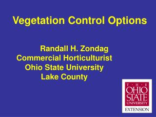 Vegetation Control Options