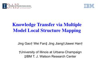 Knowledge Transfer via Multiple Model Local Structure Mapping