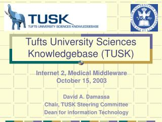 Tufts University Sciences Knowledgebase (TUSK)