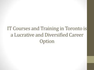 IT courses and training in Toronto