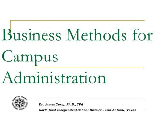 Business Methods for Campus Administration