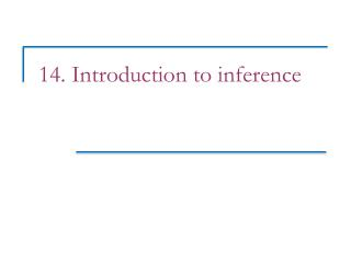 14. Introduction to inference