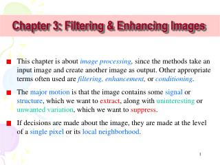 Chapter 3: Filtering & Enhancing Images