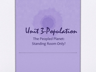Unit 3-Population