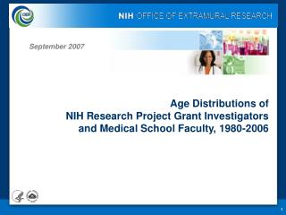 Age Distributions of  NIH Research Project Grant Investigators