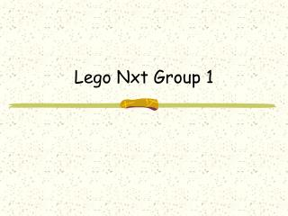Lego Nxt Group 1