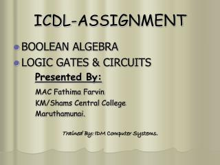 ICDL-ASSIGNMENT