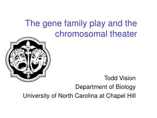 The gene family play and the chromosomal theater