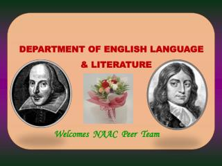 DEPARTMENT OF  ENGLISH LANGUAGE  & LITERATURE