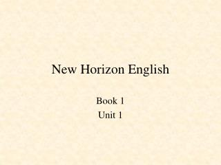 New Horizon English