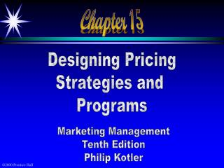 Designing Pricing Strategies and  Programs