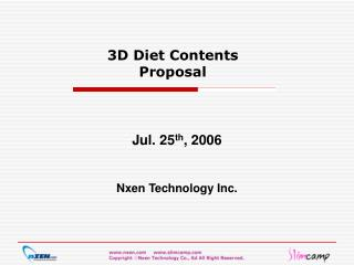 3D Diet Contents Proposal