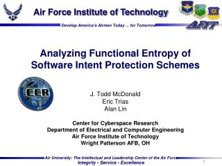 Analyzing Functional Entropy of Software Intent Protection Schemes