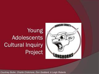 Young Adolescents Cultural Inquiry Project