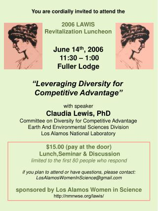 You are cordially invited to attend the 2006 LAWIS  Revitalization Luncheon