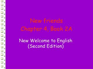 New Welcome to English (Second Edition)