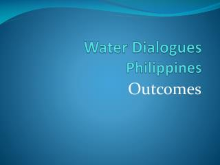 Water Dialogues Philippines