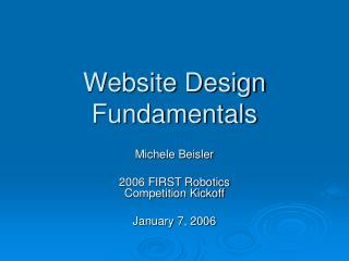 Website Design Fundamentals