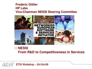 NESSI From R&D to Competitiveness in Services