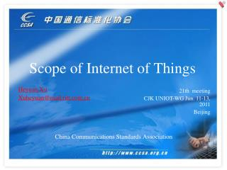 Scope of Internet of Things