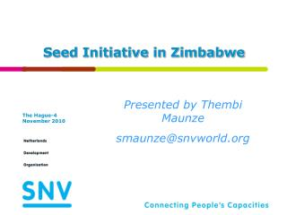 Seed Initiative in Zimbabwe