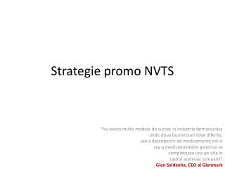 Strategie promo NVTS