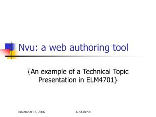 Nvu: a web authoring tool