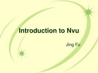 Introduction to Nvu