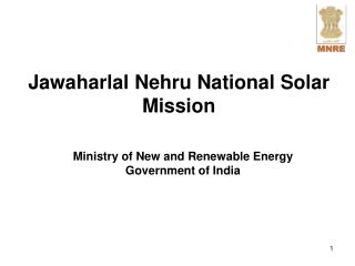 Jawaharlal Nehru National Solar Mission