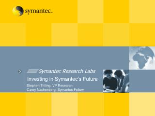 Symantec Research Labs