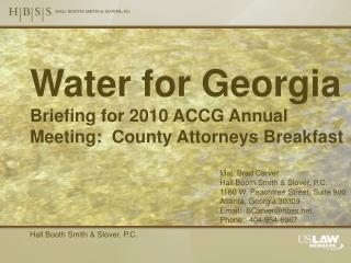 Water for Georgia Briefing for 2010 ACCG Annual Meeting:  County Attorneys Breakfast