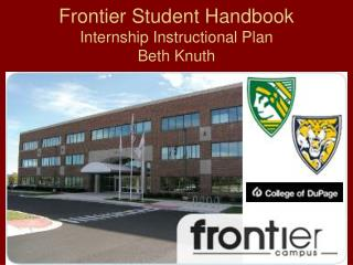 Frontier Student Handbook Internship Instructional Plan Beth Knuth