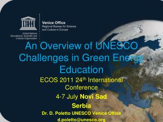 An Overview of UNESCO Challenges in Green Energy Education