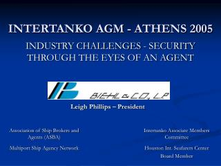 INTERTANKO AGM - ATHENS 2005