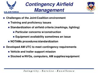 Contingency Airfield Management